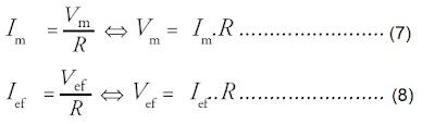 hubungan arus listrik pada rangkaian resistor