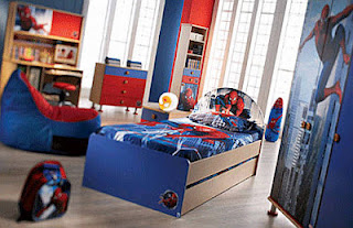Red and blue living room ideas