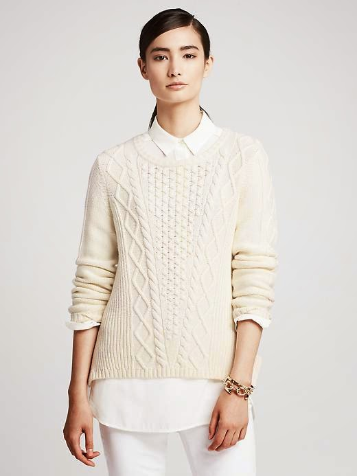 vented cable knit sweater winter style