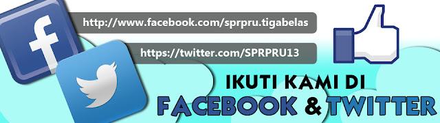 Facebook dan Twitter PRU13