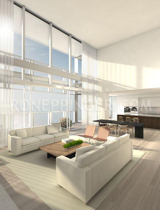 10 contoh ruang tamu warna dengan warna dominan putih  white living
