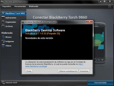 El BlackBerry Desktop Software se actualiza a la versión 7.1.0.32 e incluye los siguientes cambios: BlackBerry ® Desktop Software 7.1 ofrece una experiencia de usuario refinada con mejoras en los medios de comunicación y la sincronización de Gestión de información personal (PIM). Esto incluye la capacidad para sincronizar canciones individuales a su smartphone BlackBerry ®. Más detalles en www.blackberry.com/desktop/docs/ DESCARGA BLACKBERRY DESKTOP SOFTWARE Fuente:bberryblog