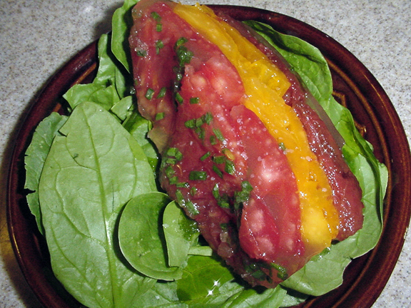 Eating floyd cooking floyd more summer eating for Tomato terrine