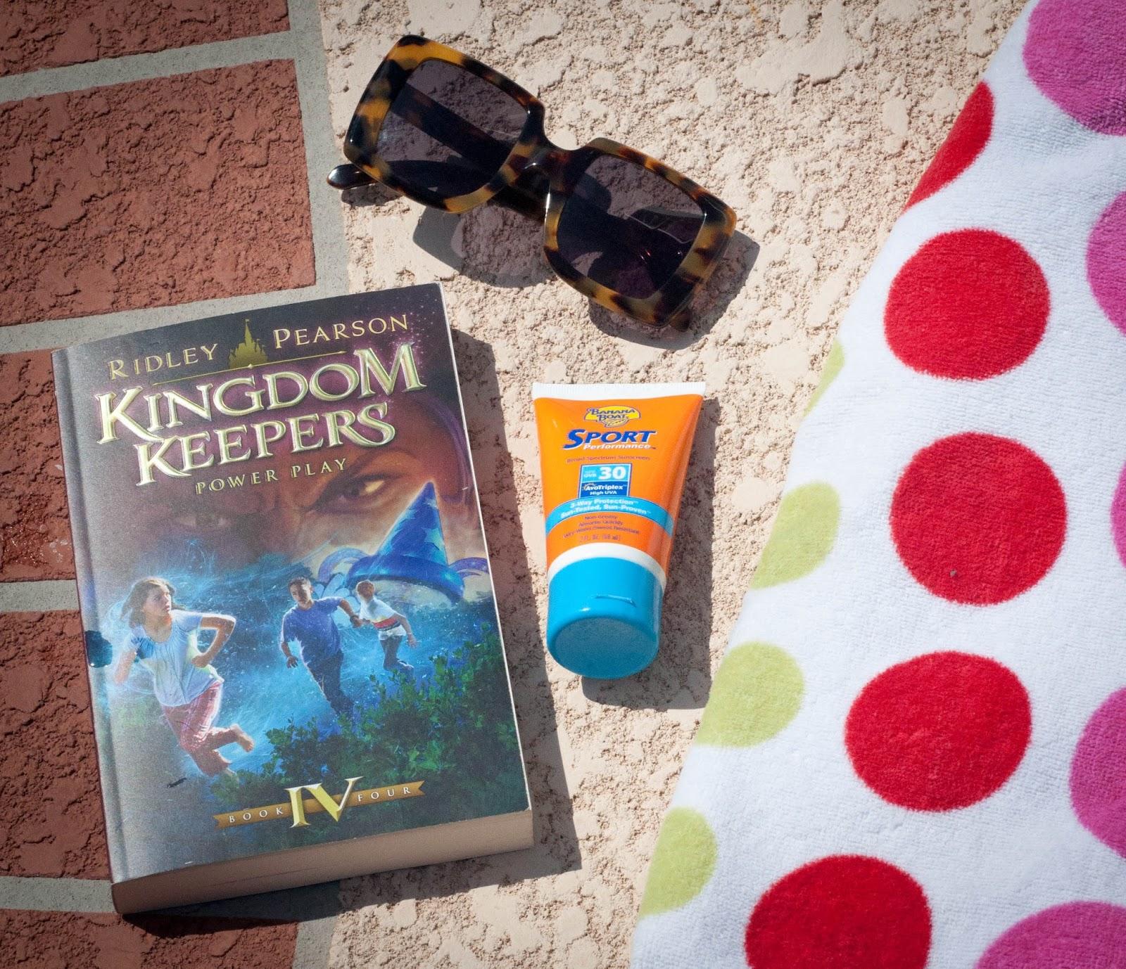 kingdom keepers, ridley pearson, teenage book series, sunscreen, karen walker, karen walker betsy, karen walker sunglasses, polka beach towel