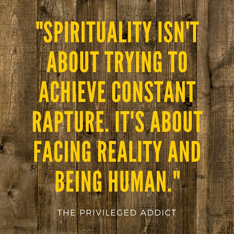 Spirituality Isn't About Rapture