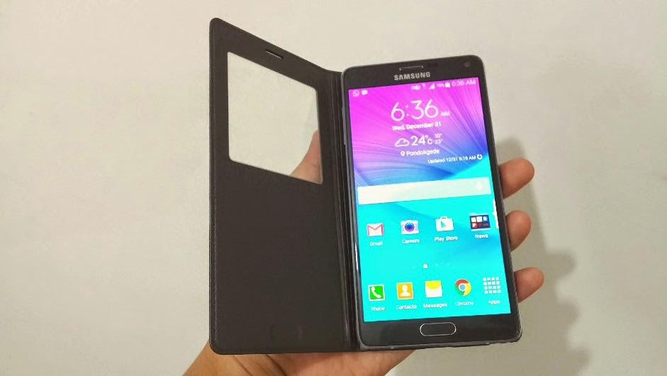 cover original untuk Note 4. ( Baca juga: Review Samsung Galaxy Note 4