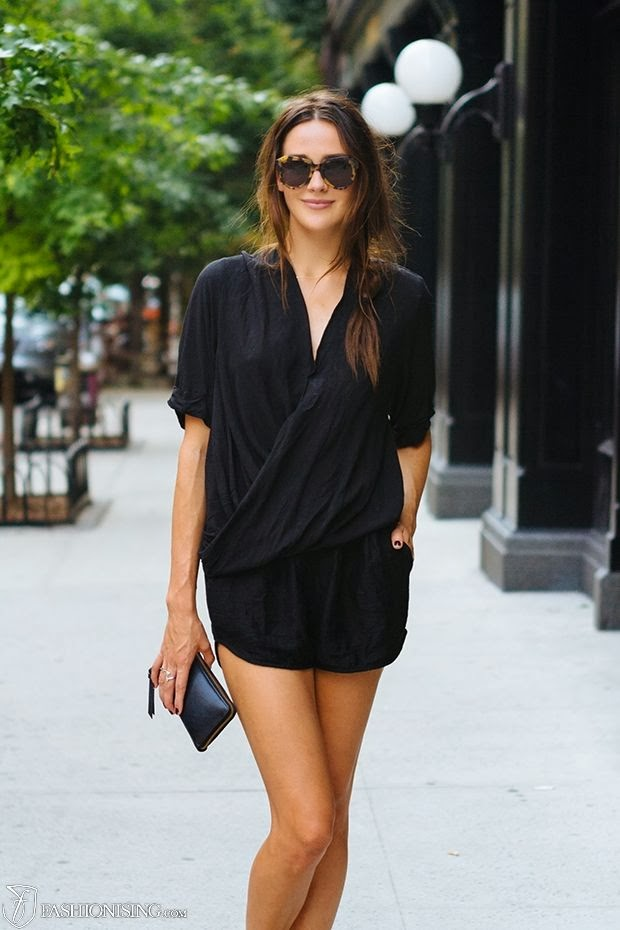 Stylish mini black dress