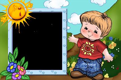 marco de foto niño