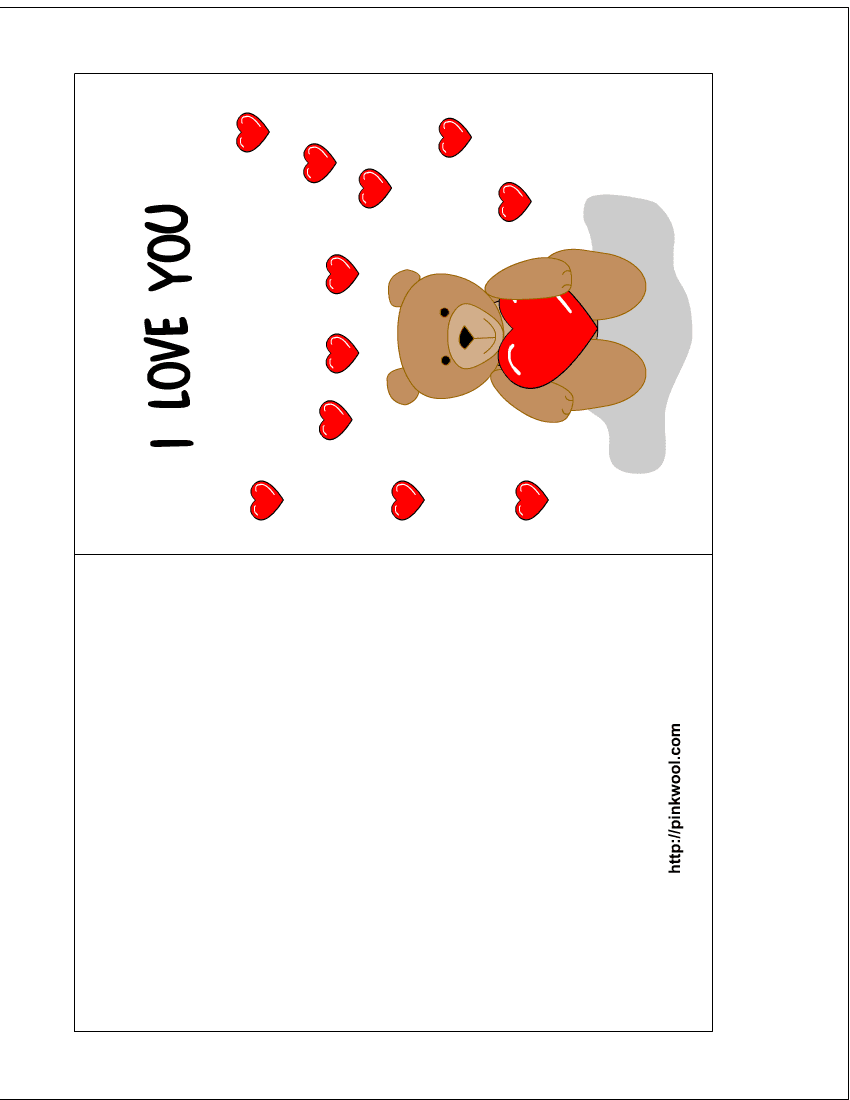 Free Valentine Card Crafthubs – Valentine Card to Print