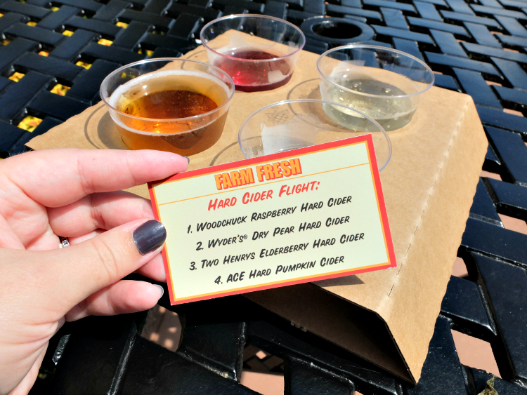 Walt Disney World, Epcot's Food & Wine Festival, Farm Fresh, Hard Cider Flight