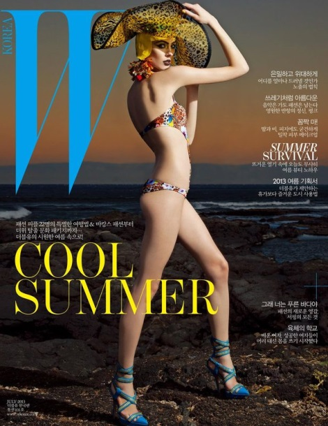 Olga Sherer Bikini Cover for W Korea by Greg Lotus