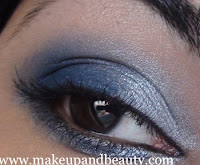 Silver Blue Party Eye Makeup Tutorial