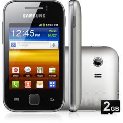"""Smartphone Samsung Galaxy Y Desbloqueado Claro Cinza - Android 2.3, Tela 3"""", Câmera de 2MP, 3G, Wi-Fi, Memória Interna 150MB e Cartão 2GB"""