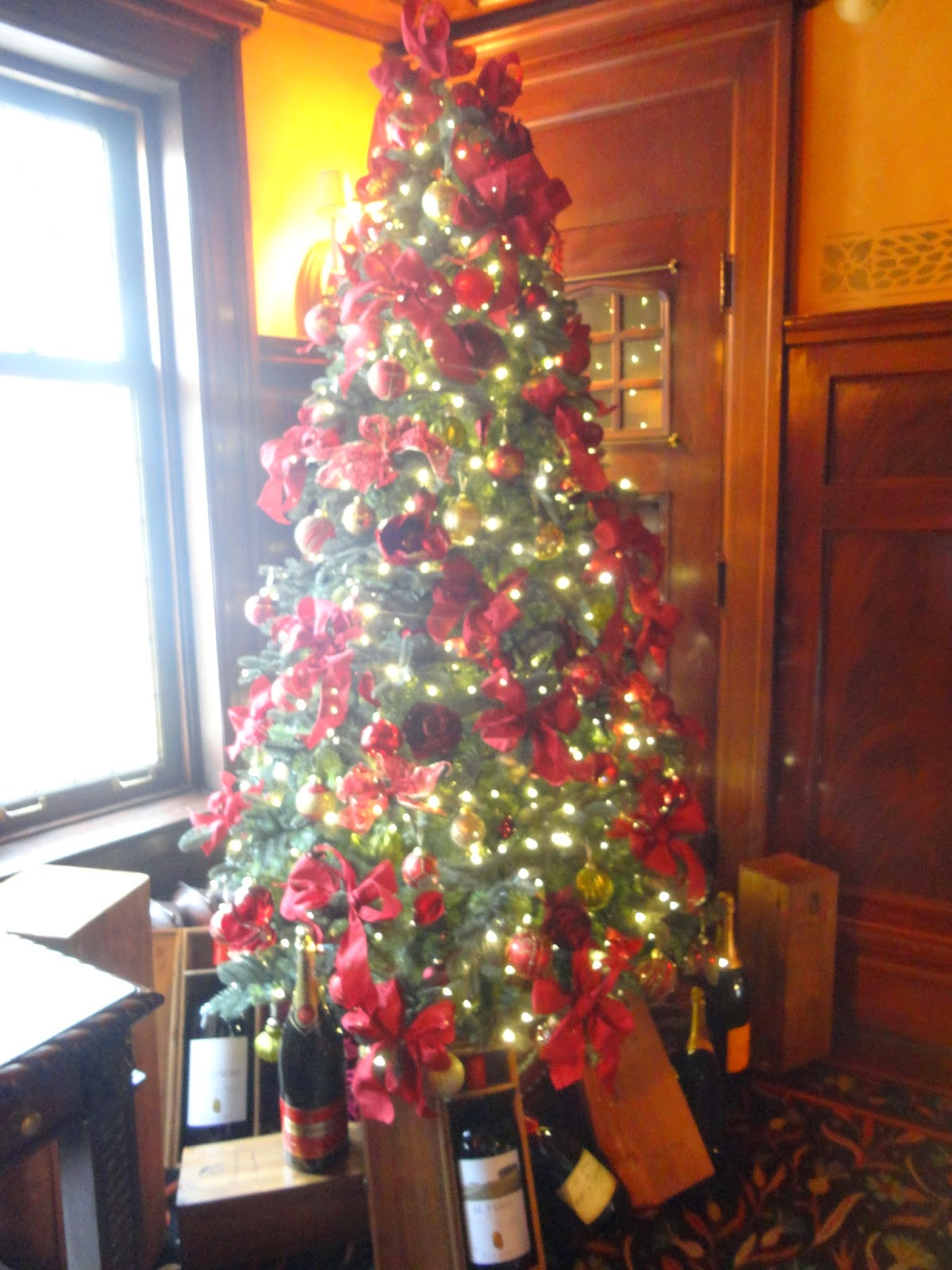 Christmas decorations at 529 Wellington - stay tuned for a future post about this historic building turned restaurant!