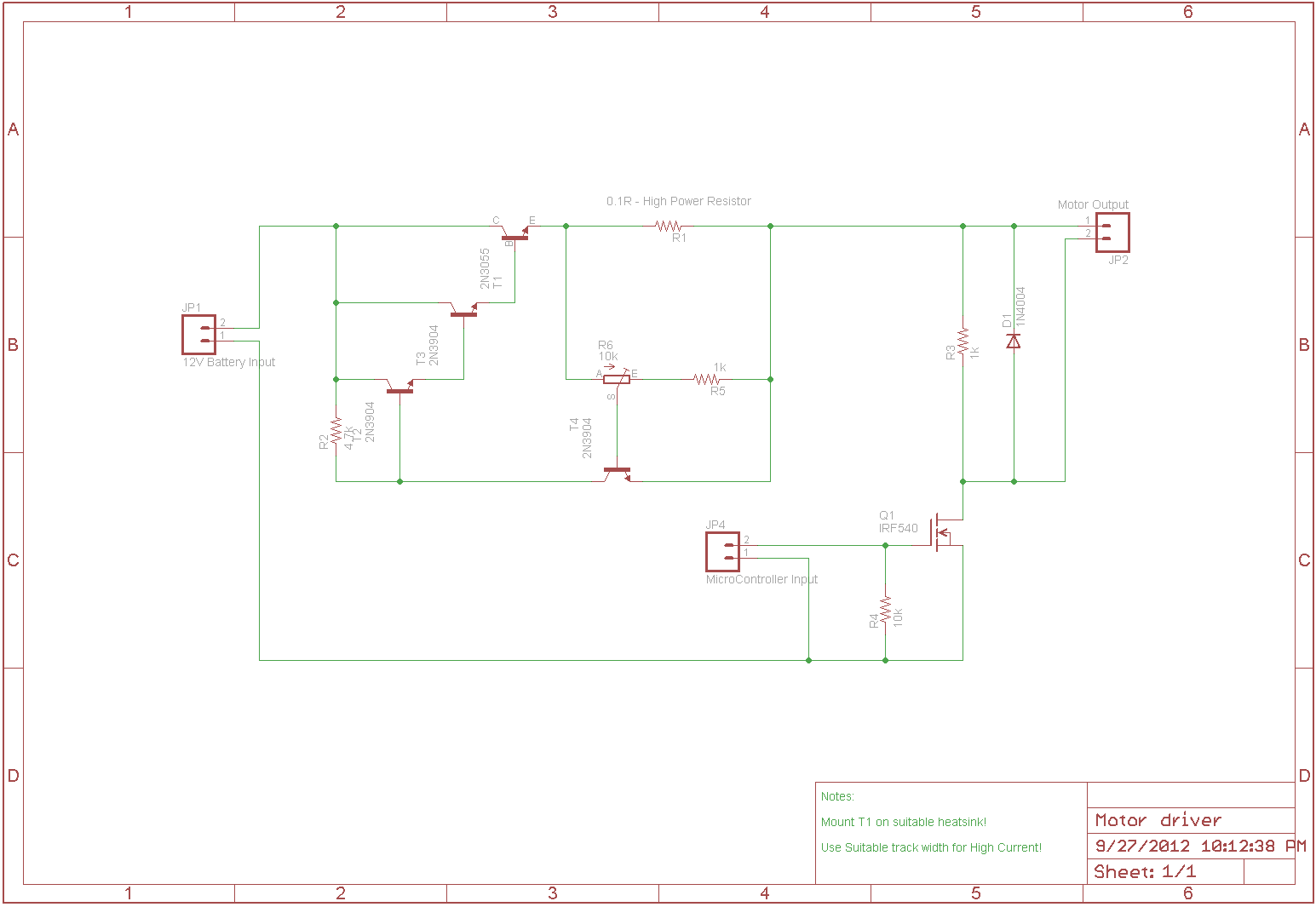 The Answer Is 42 Current Limiting For Motor Driver Using A Fet As Voltage Controlled Resistor Next Up Small Pcb That I Have Designed To Test Circuit And Maybe Use In Scooter Havent Decided We Might Want Incorporate