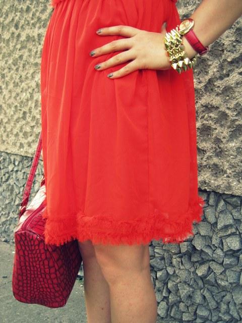 Red Red Red Stylizacja Z Czerwoną Sukienką Mój Blog O