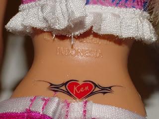 Love Heart Tattoo for girls on back