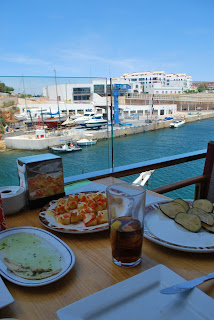 Tapas on the terrace, Club Nautic Ciutadella