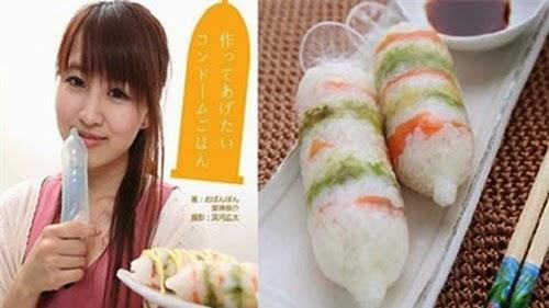 Sushi cuộn trong ... bao cao su gây sốt tại Nhật