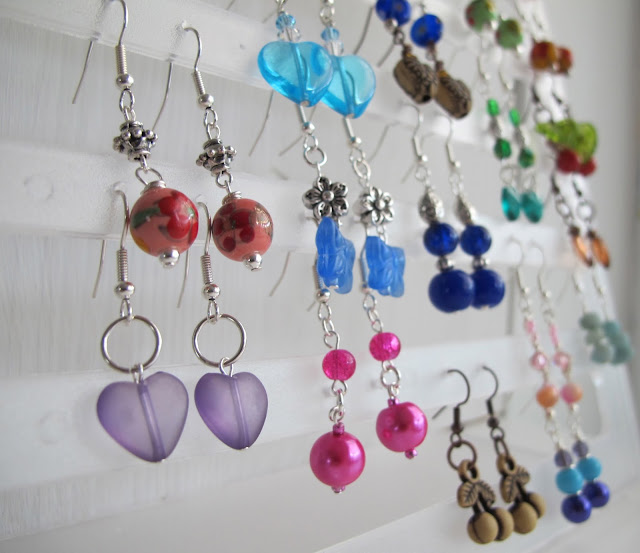 earrings made by hand