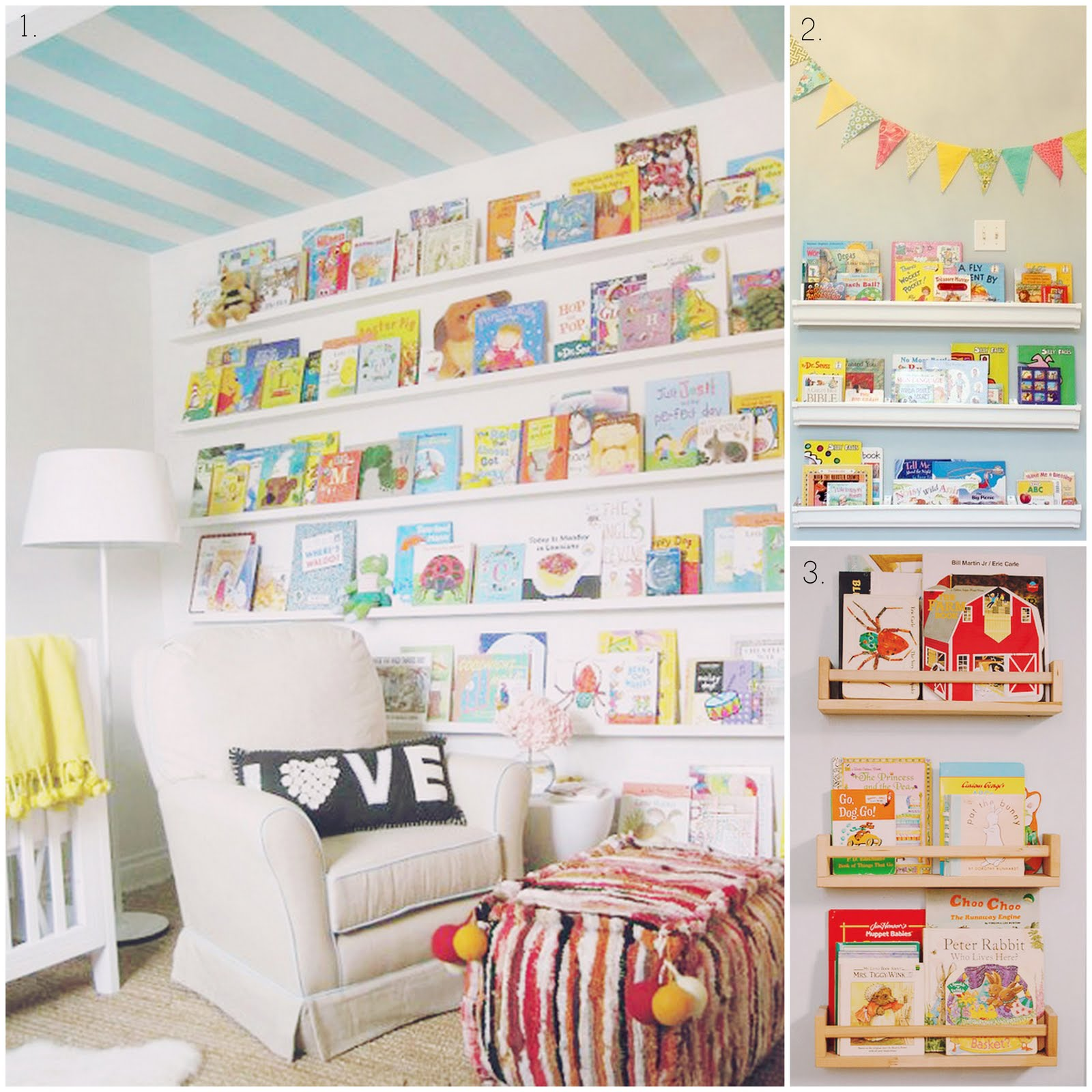 Little girl bookshelves images for Toy and book storage
