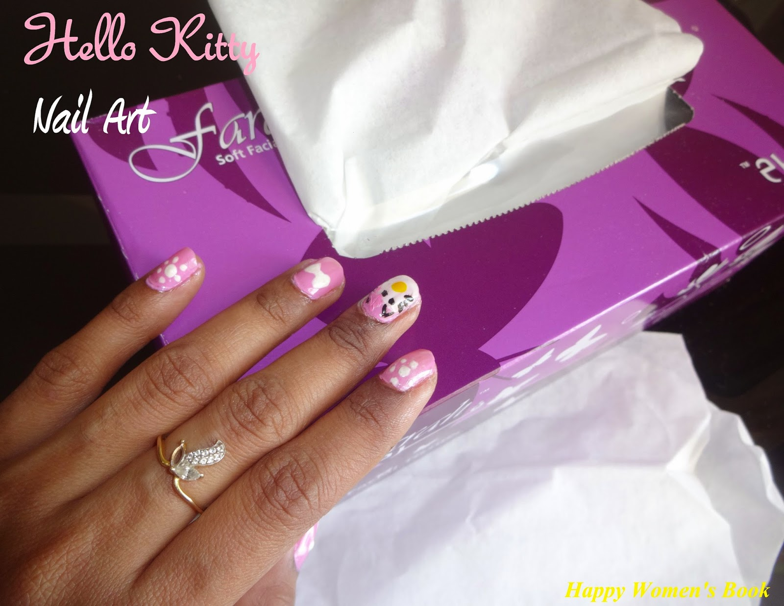 Selvas Kitchen Nail Art Hello Kitty
