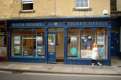 Bath Rugby ticket office, Somerset, UK