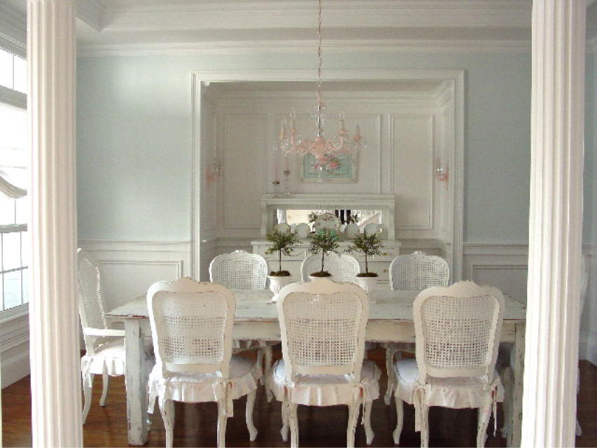 Shabby chic house furniture - Shabby chic dining rooms ...