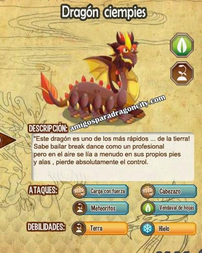 imagen de las caracteristicas del dragon ciempies