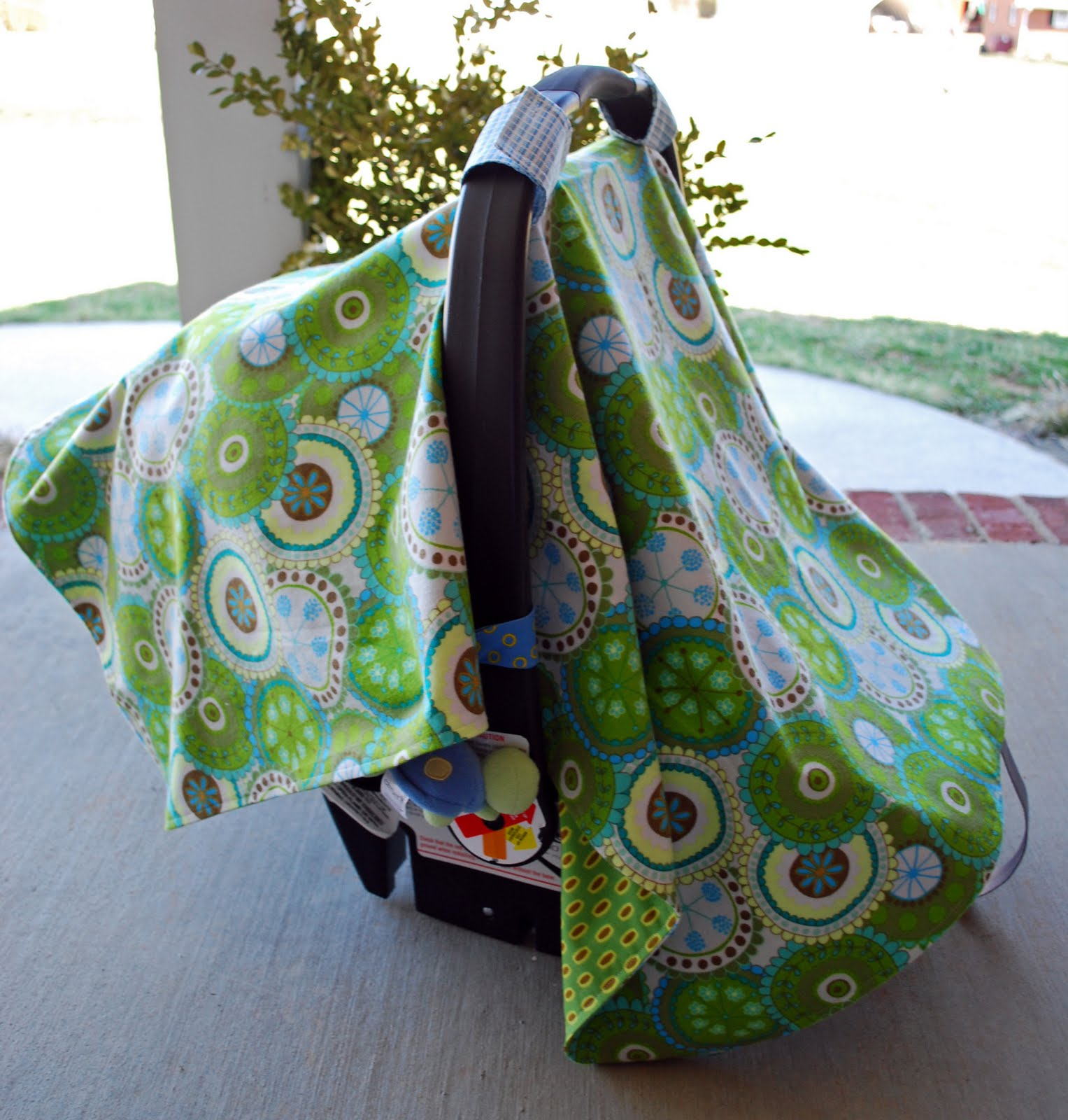 Cuddle Buds Baby Car Seat Cover & Diaper Stacker