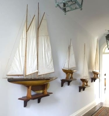 Decorating with model yachts 7 display ideas completely for Ship decor home