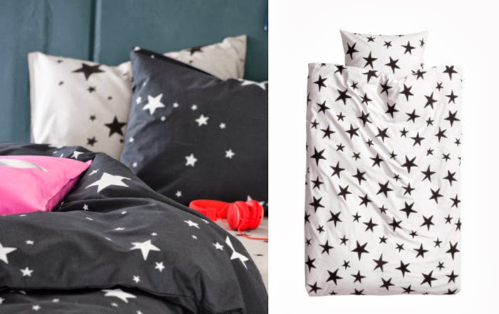 H&M bedding set stars