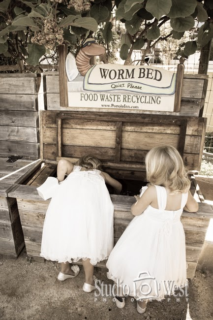 Worm Bed and flower girls
