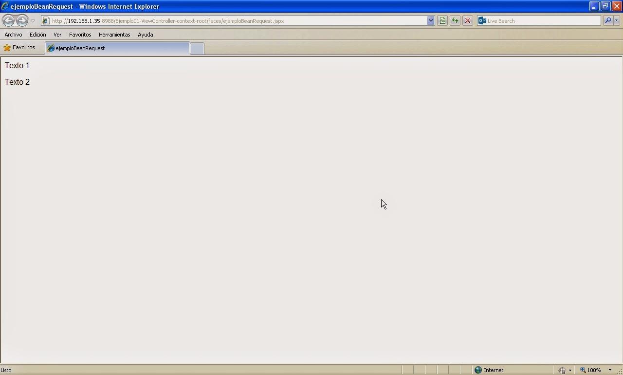 vista navegador