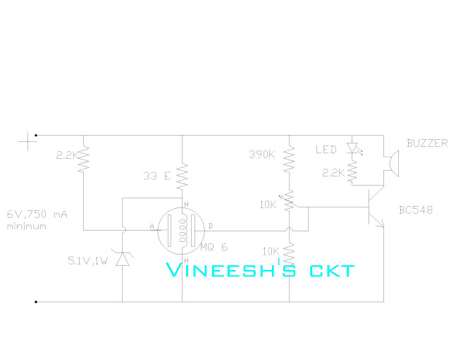 simple circuits vineetron  simple lpg   butane  propane gas