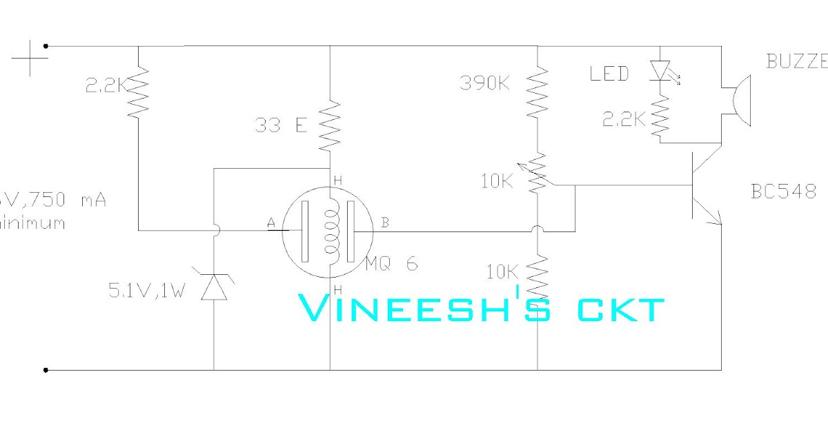 simple circuits vineetron  simple lpg   butane  propane gas