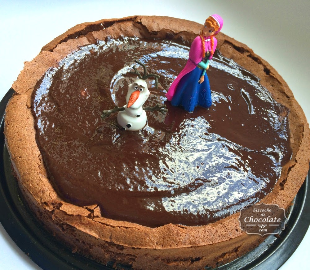 tarta de chocolate de frozen