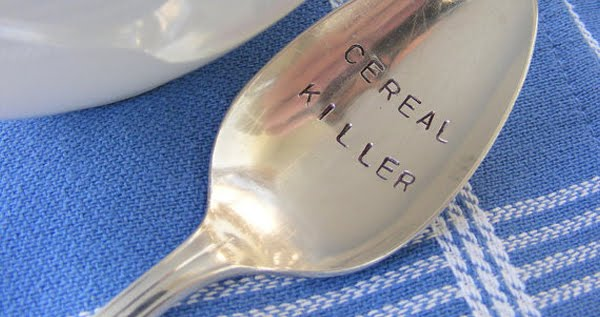 Hand Stamped Cereal Killer Spoon