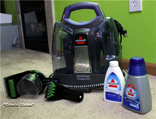 I m cleaning all sorts of bodily fluids so often that I upgraded my Bissell  Spot Lifter PowerBrush to a Bissell SpotClean Complete Pet. Condo Blues  How to Clean Dog Urine from Carpet and Keep Your Dog