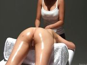Massagem erotica na peituda