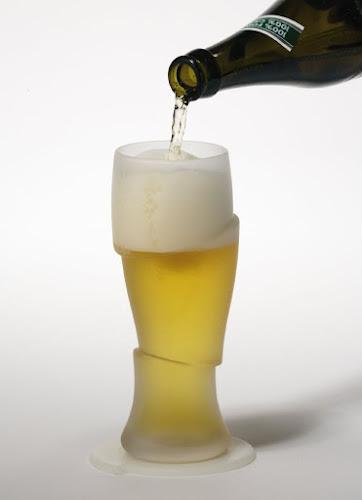 Tulipas de cerveja fatiadas