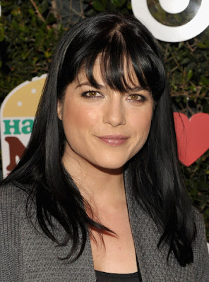 Selma Blair Long Straight Cut with Bangs Hairstyle
