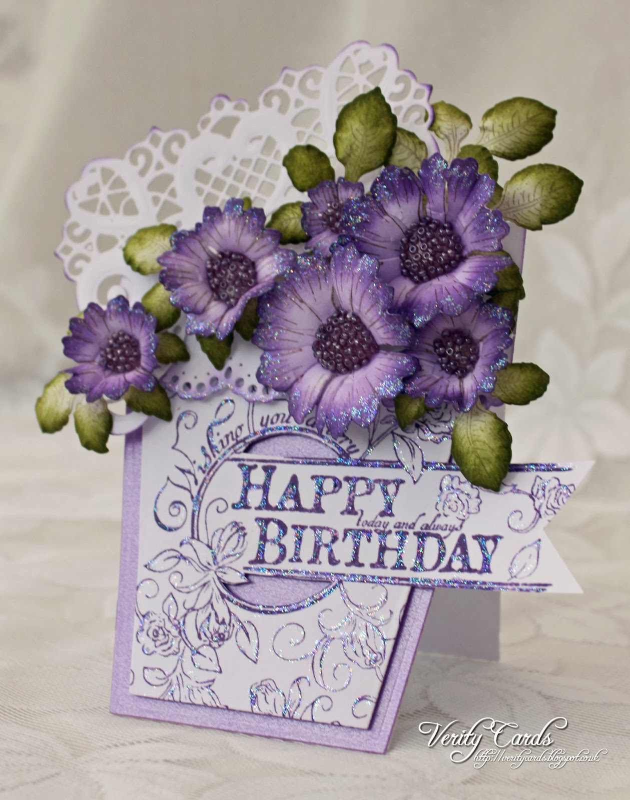 Verity Cards Birthday Flowers