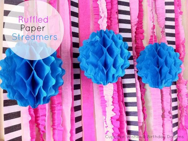 Ruffled Crepe Paper Streamers by cupcakewishesandbirthdaydreams.com