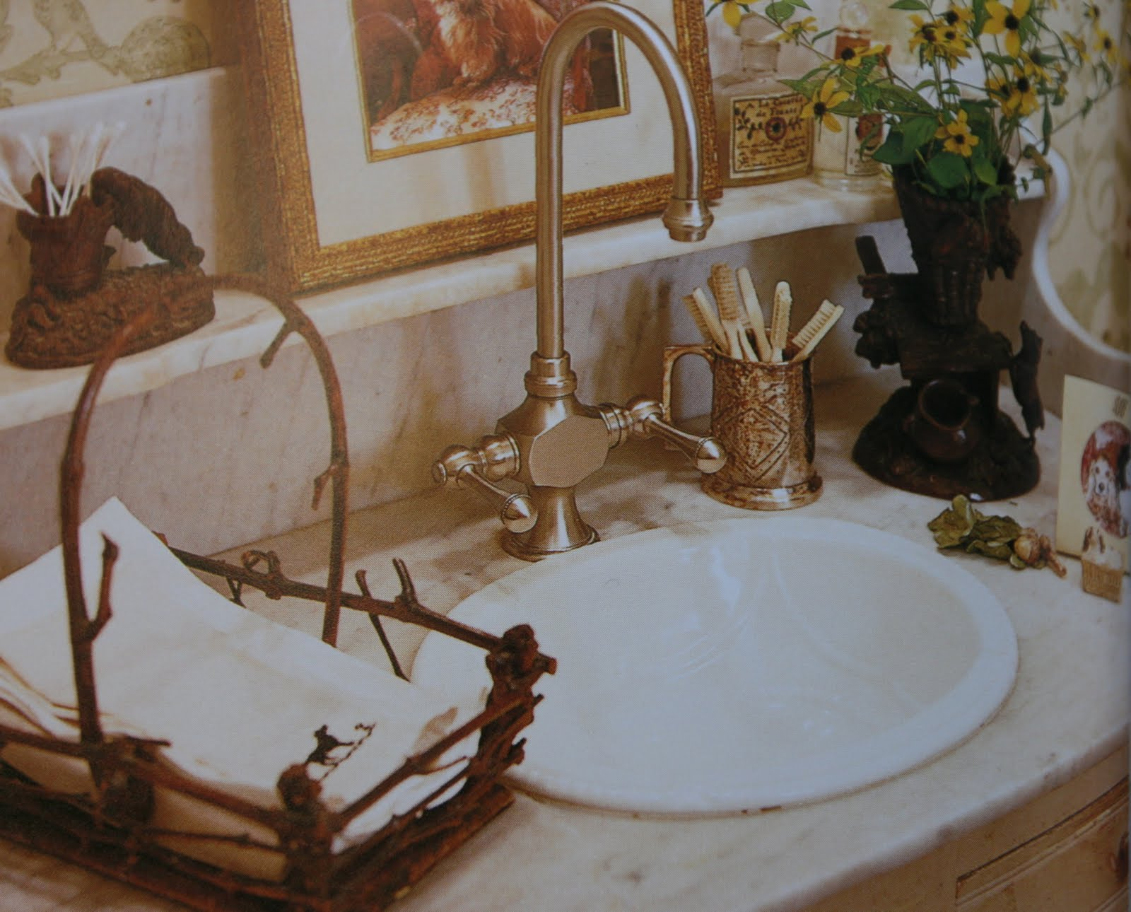 vignette design romantic bathroom vignettes. Black Bedroom Furniture Sets. Home Design Ideas