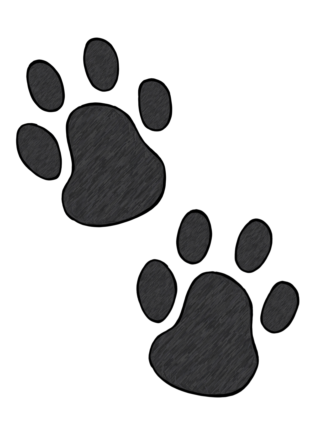It is a photo of Challenger Free Printable Paw Prints