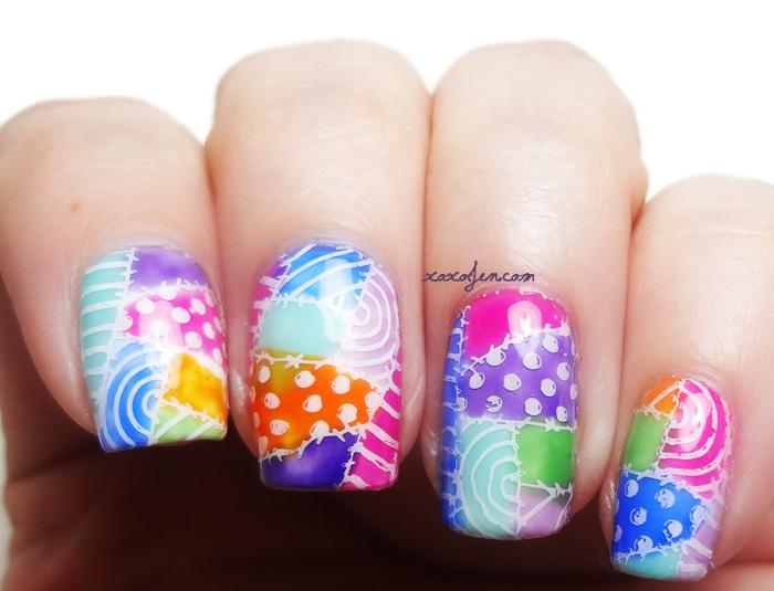 xoxoJen's quilt nail art