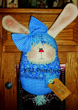 WHIMSICAL BLUE BUNNY DOOR GREETER