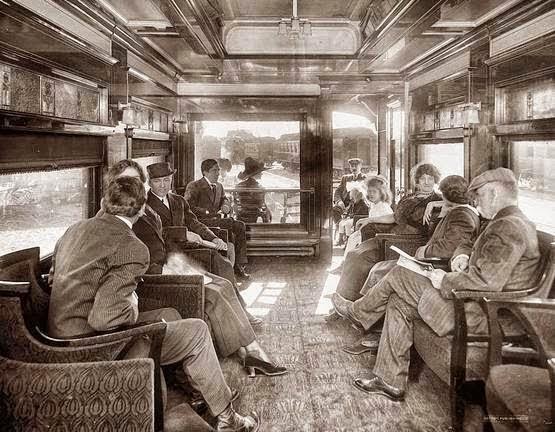 Passageiros do vagão do Expresso do Oriente