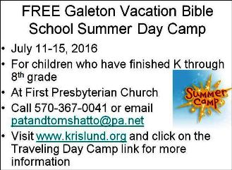 7-11thru 15 VBS Summer Day Camp